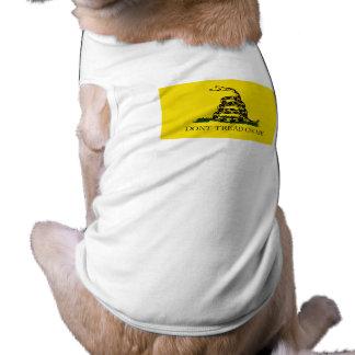 Don t Tread on Me Flag Pet Tshirt
