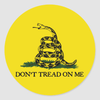 Don t Tread On Me-Gadsden Flag Round Stickers