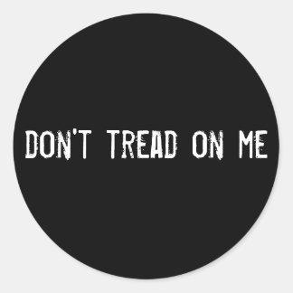 don t tread on me round sticker