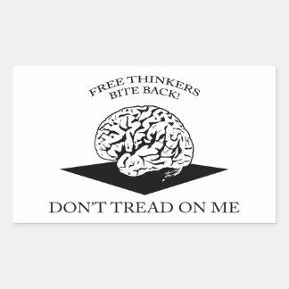 Don't tread on me rectangular stickers