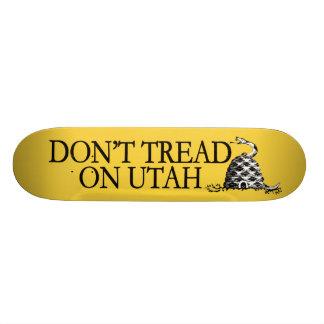 Don t Tread on Utah This beehive bites Skateboard
