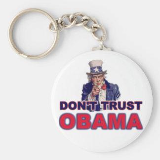 Don t Trust Obama Keychain