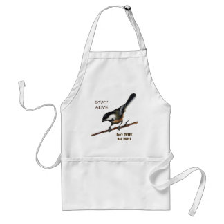 Don t Tweet Drive Bird Color Pencil Art Apron
