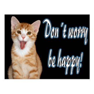 Don´t worry be happy postcard