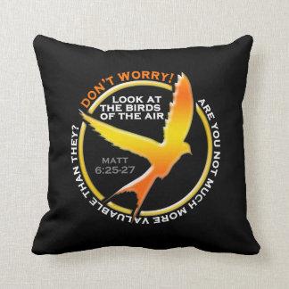 Don t Worry Christian Bird Bible Verse Religious Throw Pillow
