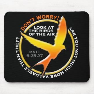 Don t Worry Christian Bird Bible Verse Religious Mousepad