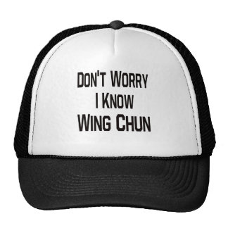 Don t Worry I Know Wing Chun Hats