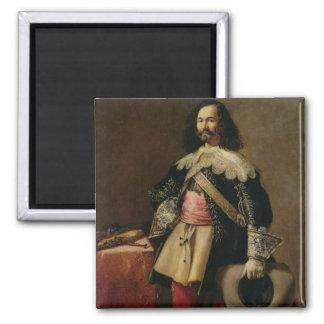 Don Tiburcio de Redin y Cruzat (oil on canvas) Square Magnet