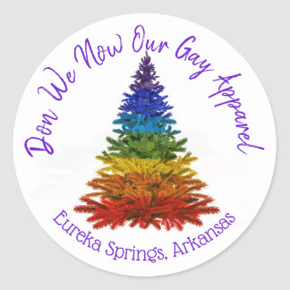 Don We Now Our Gay Apparel Holiday Stickers