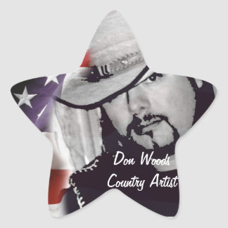 Don Woods Country Artist Star Stickers