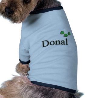 Donal Irish Name Pet T Shirt