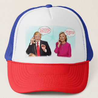 Donald and Hillary phone conversation hat. Trucker Hat