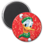Donald Duck in Winter Clothes Fridge Magnet