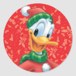 Donald Duck in Winter Clothes Sticker