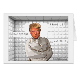 Donald in a straitjacket anti Trump painting Card
