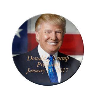 Donald J Trump President Commemorative Platter Porcelain Plates