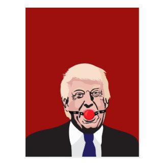 Donald J. Trump with red gag - DIY Postcard