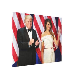 Donald & Melania Trump At Inauguration Canvas Print