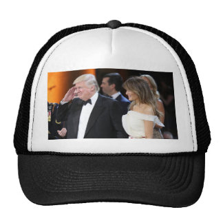 Donald & Melania Trump At Inauguration Cap