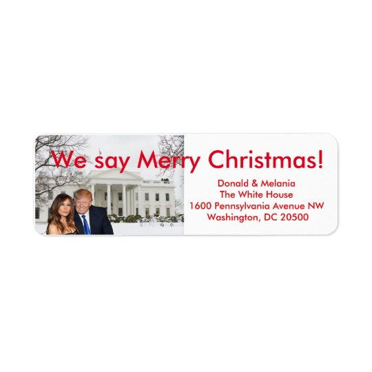 Donald & Melania: We say Merry Christmas