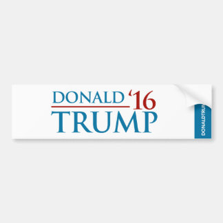 Donald Trump '16 Bumper Sticker White