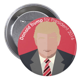 Donald Trump 2016 for president custom button