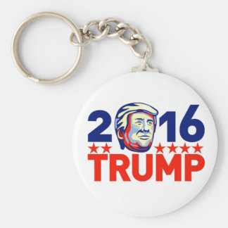 Donald Trump 2016 President Retro Basic Round Button Key Ring