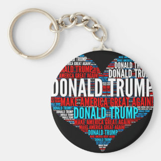 Donald Trump 2016 Presidential Candidate Basic Round Button Key Ring