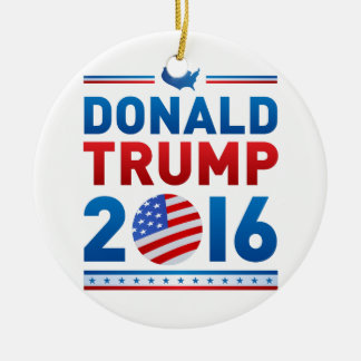DONALD TRUMP 2016 Presidential Election Round Ceramic Decoration
