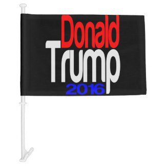 Donald Trump 2016 Red White and Blue Car Flag