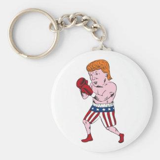 Donald Trump 2016 Republican Boxer Basic Round Button Key Ring