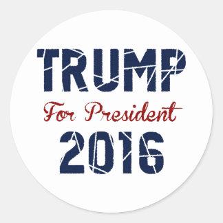 Donald Trump 2016 Round Sticker