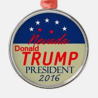 Donald TRUMP 2016 Silver-Colored Round Decoration