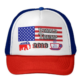 Donald Trump 2016 - Tea Party - Elephant Cap