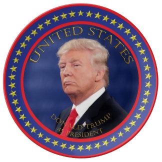 Donald Trump 45 President Porcelain Plates