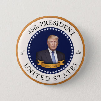 Donald Trump - 45th President of the United States 6 Cm Round Badge