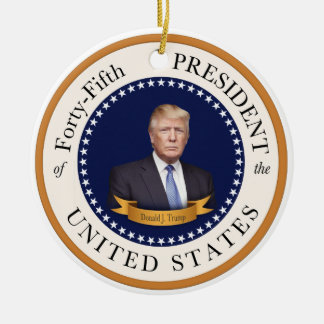 Donald Trump - 45th President of the United States Christmas Ornament