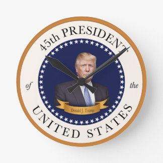 Donald Trump - 45th President of the United States Wall Clocks