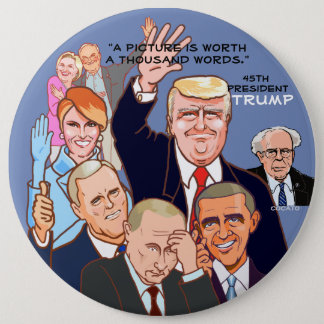 Donald Trump-45th President of the USA. 6 Cm Round Badge