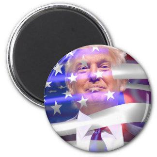 donald trump american flag 6 cm round magnet