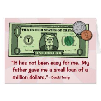 Donald Trump as a Dollar Bill Card