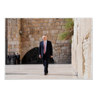 Donald Trump At Western Wall In Israel Poster