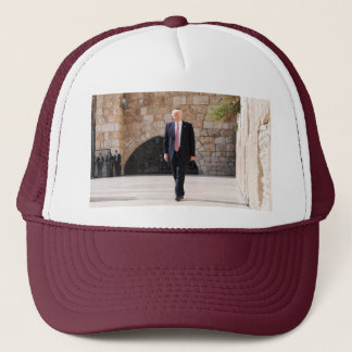 Donald Trump At Western Wall In Israel Trucker Hat