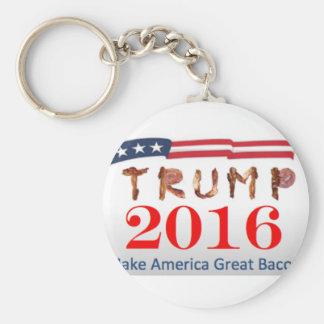Donald Trump Bacon Key Ring