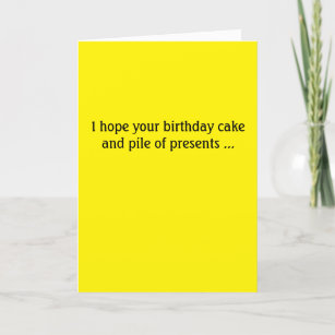 Donald Trump Birthday Card Cake And Presents