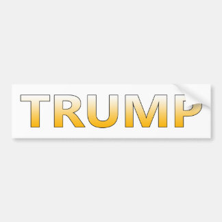 DONALD TRUMP BOLD Bumper Sticker - Customizable