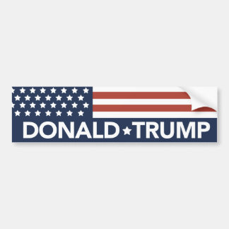 Donald Trump Bumper Sticker Flag 2016