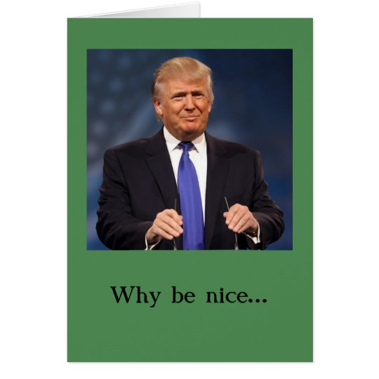 Donald Trump Christmas Card -- Naughty and Nice