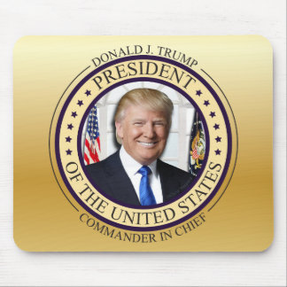 DONALD TRUMP COMMANDER IN CHIEF GOLD PRESIDENTIAL MOUSE MAT