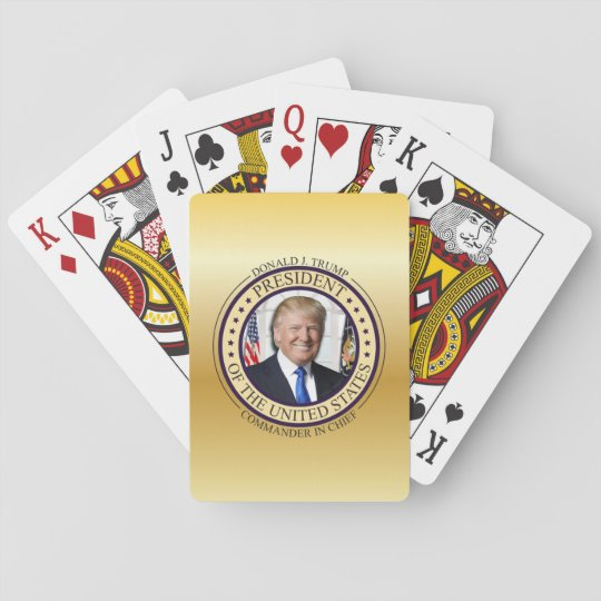 DONALD TRUMP COMMANDER IN CHIEF GOLD PRESIDENTIAL PLAYING